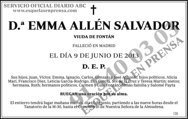 Emma all n salvador esquelas en prensa for Esquelas funeraria el mueble melide