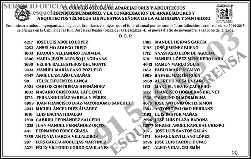 Miguel ngel ranchal crespo esquelas en prensa - Colegio de aparejadores de tenerife ...