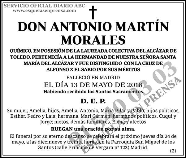 Ltimas esquelas publicadas en diario abc publicar - Antonio martin morales ...